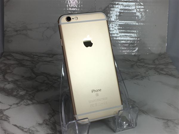 【中古】【安心保証】 SoftBank iPhone6s[64G] ゴールド
