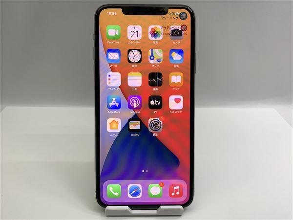【中古】【安心保証】 SIMフリー iPhone11 Pro Max[512G] シルバー