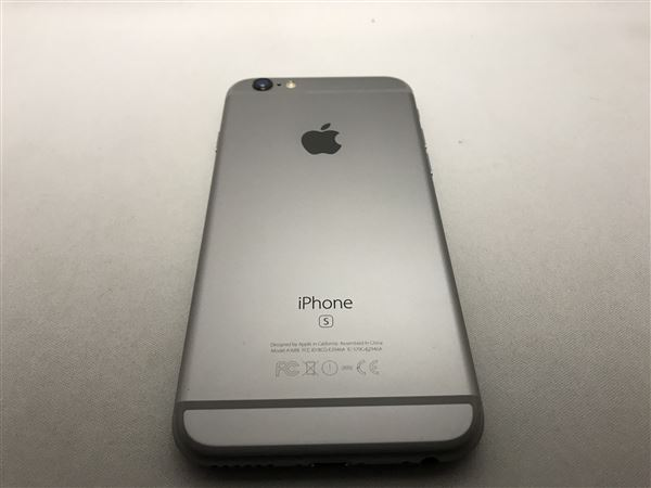 【中古】【安心保証】 docomo iPhone6s[32G] スペースグレイ