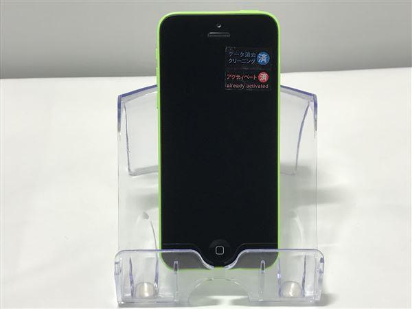 【中古】【安心保証】 au iPhone5c[16G] グリーン
