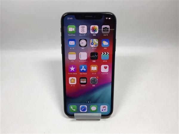 【中古】【安心保証】 SoftBank iPhoneX[256G] スペースグレイ SIMロック解除済
