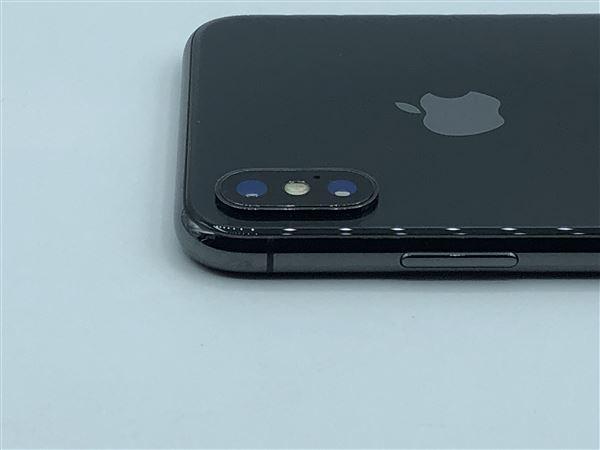 【中古】【安心保証】 SIMフリー iPhoneX[64G] スペースグレイ