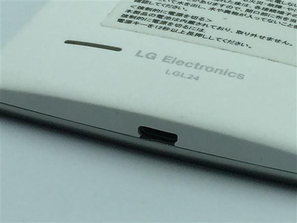 【中古】【安心保証】 au LGL24 ホワイト