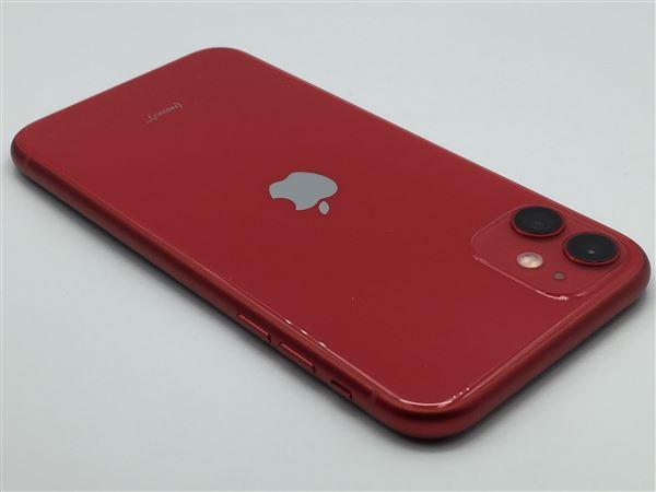 【中古】【安心保証】 SoftBank iPhone11[64G] レッド