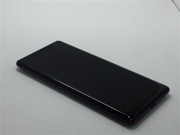 【中古】【安心保証】 SoftBank 801SO ボルドーレッド