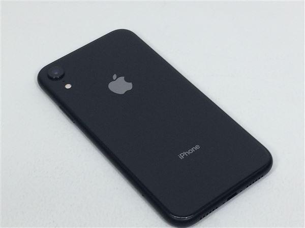 【中古】【安心保証】 SoftBank iPhoneXR[64G] ブラック