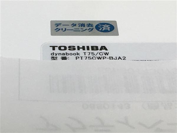 【中古】【安心保証】 TOSHIBA ノートPC PT75CWP-BJA2