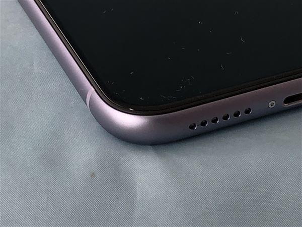 【中古】【安心保証】 SoftBank iPhone11[64G] パープル
