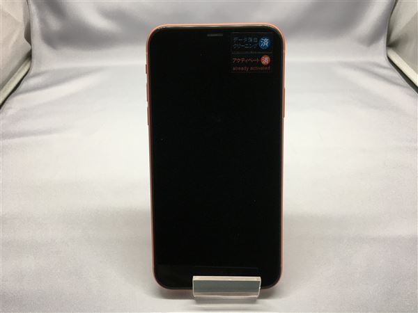 【中古】【安心保証】 SoftBank iPhoneXR[64G] コーラル