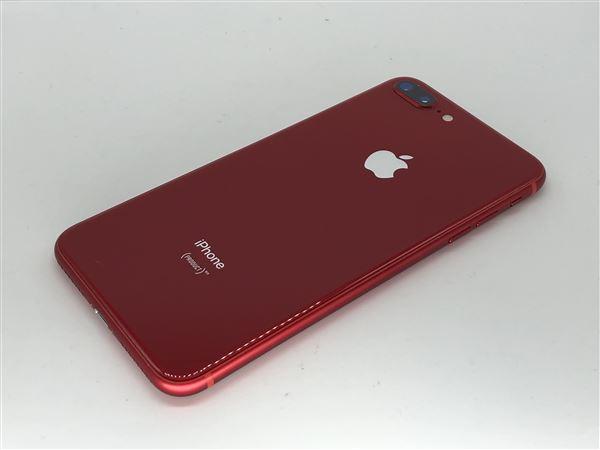 【中古】【安心保証】 au iPhone8Plus[64G] レッド SIMロック解除済