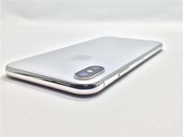 【中古】【安心保証】 SoftBank iPhoneX[64G] シルバー