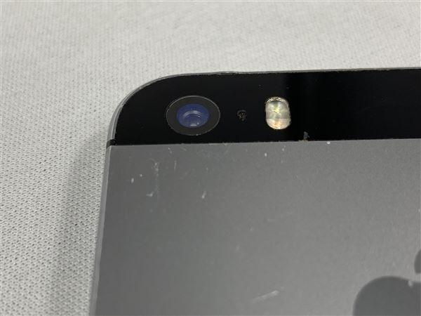 【中古】【安心保証】 SoftBank iPhone5s[32G] スペースグレイ