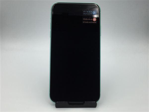 【中古】【安心保証】 SoftBank iPhone11[64G] グリーン