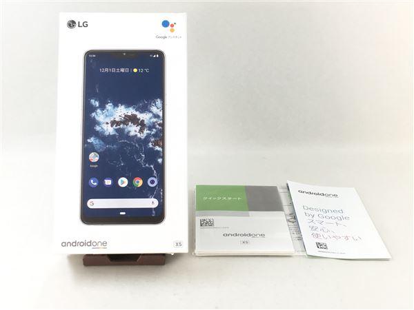 【中古】【安心保証】 Y!mobile Android One X5 ミスティックホワイト