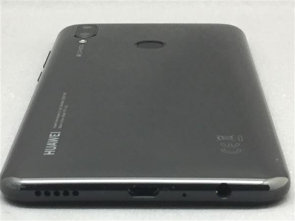 【中古】【安心保証】 UQモバイル nova lite 3 ミッドナイトブラック