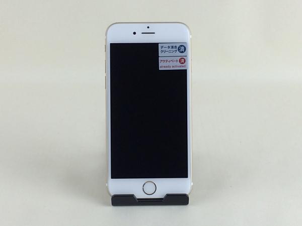 【中古】【安心保証】 au iPhone6s[64G] ゴールド SIMロック解除済
