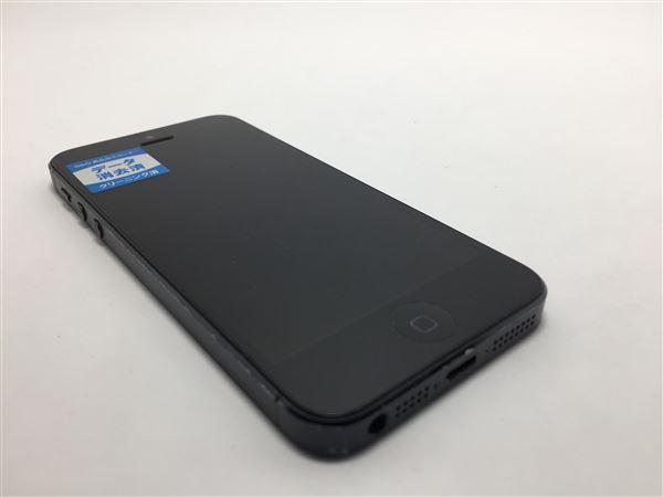 【中古】【安心保証】 SoftBank iPhone5[16G] ブラック&スレート