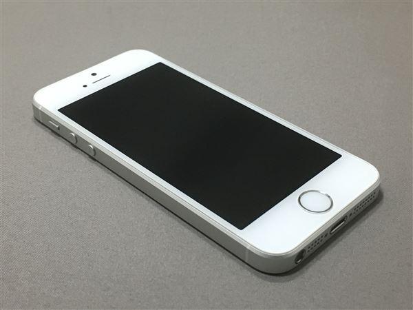 【中古】【安心保証】 au iPhoneSE[16G] シルバー