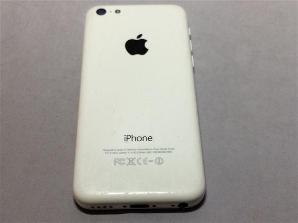 【中古】【安心保証】 au iPhone5c[32G] ホワイト