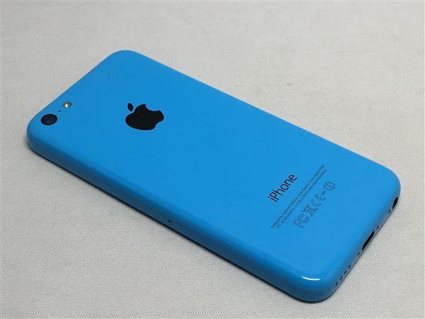 【中古】【安心保証】 au iPhone5c[16G] ブルー