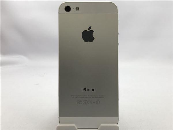 【中古】【安心保証】 au iPhone5[32G] ホワイト&シルバー