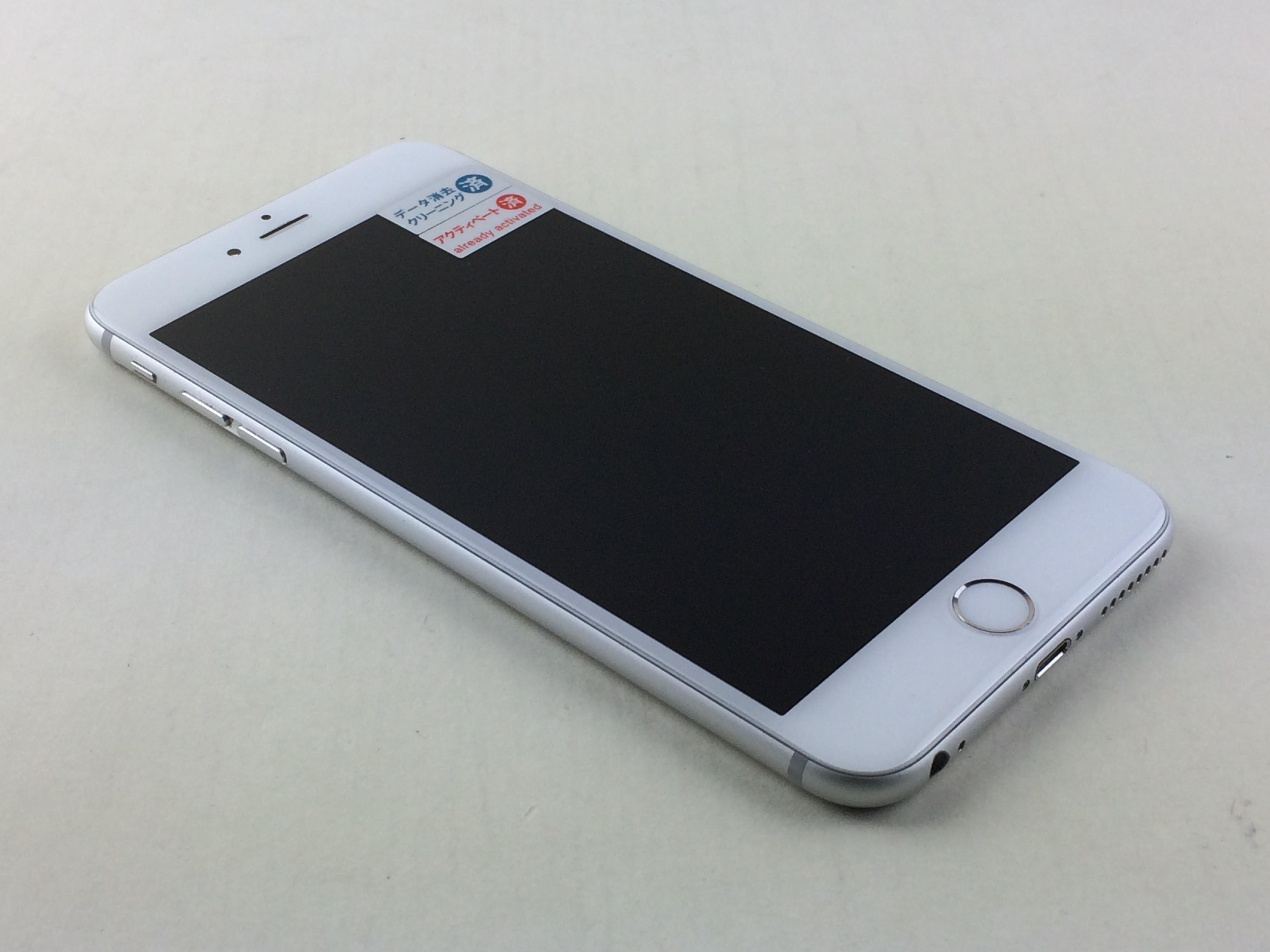 【中古】【安心保証】 au iPhone6Plus[64G] シルバー