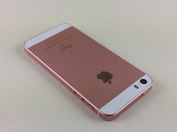 【中古】【安心保証】 au iPhoneSE[64G] ローズゴールド