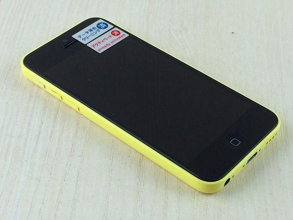 【中古】【安心保証】 au iPhone5c[16G] イエロー