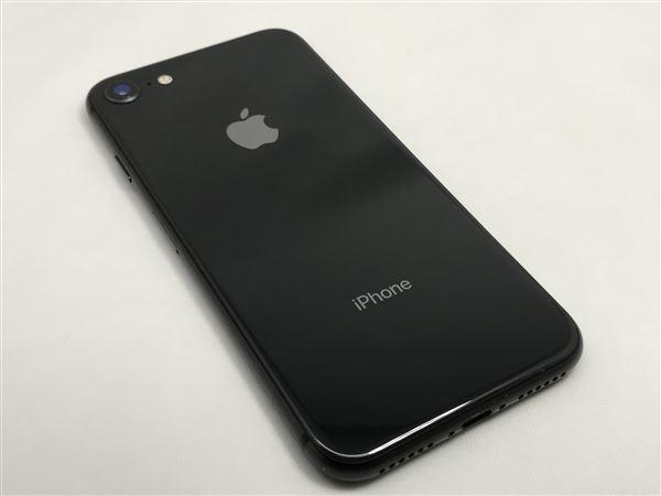 【中古】【安心保証】 au iPhone8[64G] スペースグレイ