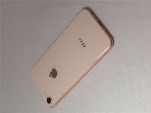 【中古】【安心保証】 au iPhone8[64G] ゴールド
