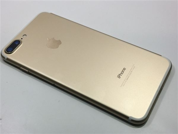 【中古】【安心保証】 au iPhone7Plus[32G] ゴールド