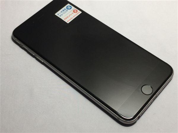 【中古】【安心保証】 au iPhone6sPlus[128G] スペースグレイ