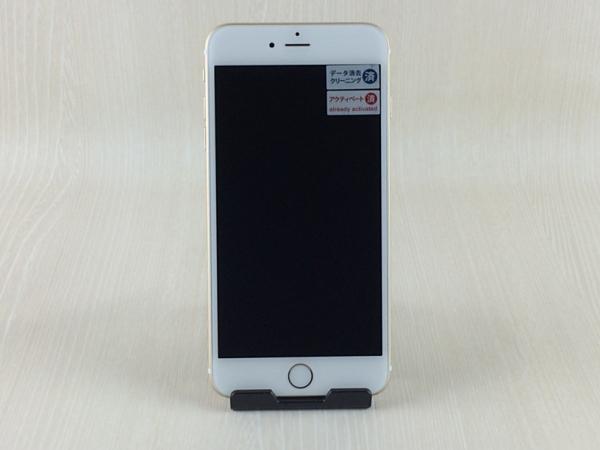 【中古】【安心保証】 au iPhone6Plus[64G] ゴールド