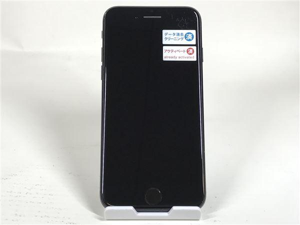 【中古】【安心保証】 au iPhone7[128G] ジェットブラック
