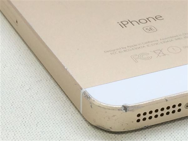 【中古】【安心保証】 au iPhoneSE[16G] ゴールド