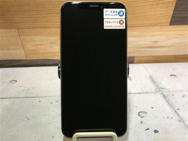 【中古】【安心保証】 docomo iPhoneX[64G] シルバー SIMロック解除済
