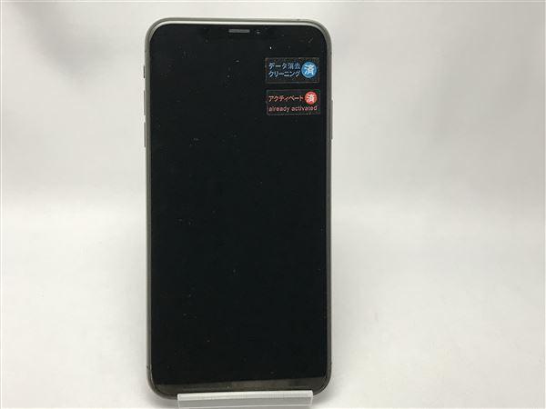 【中古】【安心保証】 SoftBank iPhoneXSMax[256G] グレイ