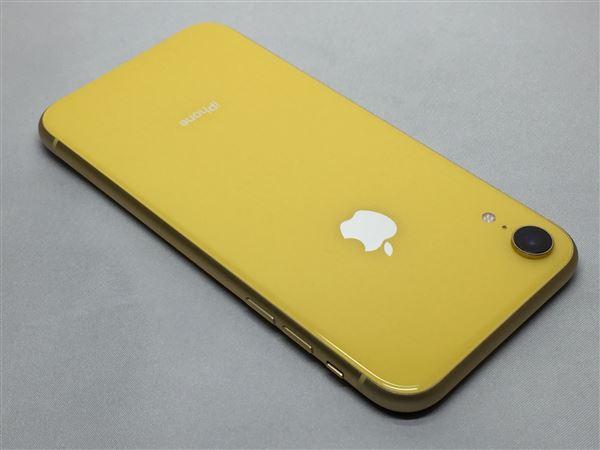 【中古】【安心保証】 au iPhoneXR[64G] イエロー