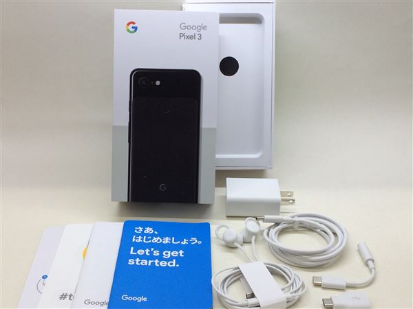 【中古】【安心保証】 SoftBank Pixel 3[128G] ジャストブラック