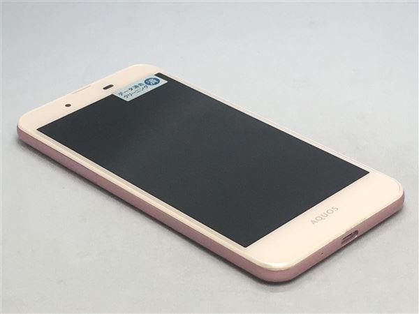 【中古】【安心保証】 UQモバイル AQUOS L SHV37 ピンク