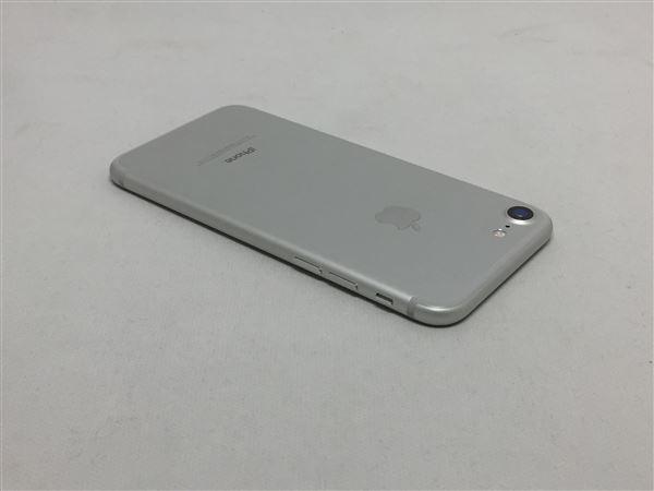 【中古】【安心保証】 au iPhone7[128GB] シルバー