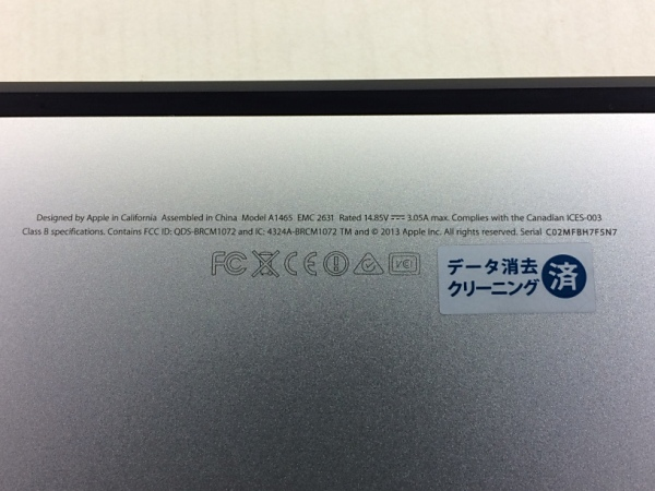 【中古】【安心保証】 アップル ノートPC MacBookAir6.1 A1465 MD711J/B