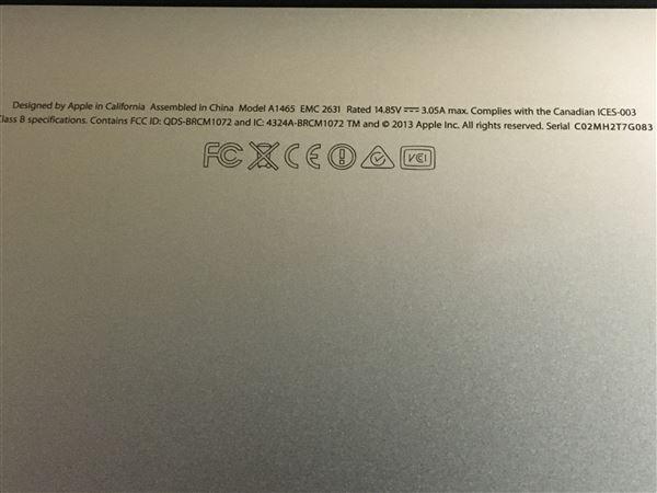 【中古】【安心保証】 アップル ノートPC MD711J/B
