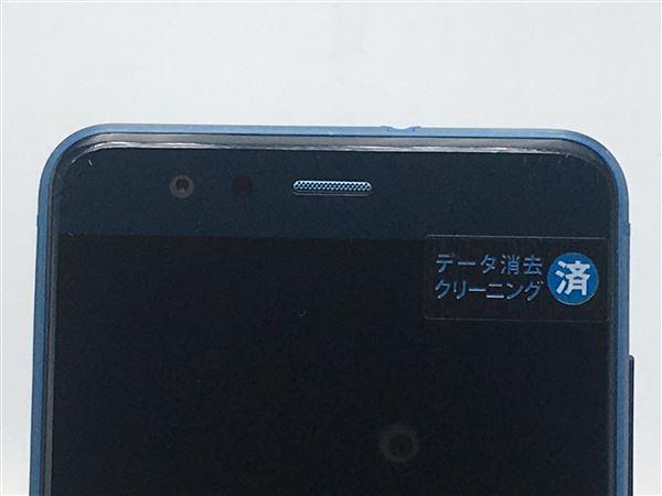 【中古】【安心保証】 UQモバイル P10lite サファイアブルー