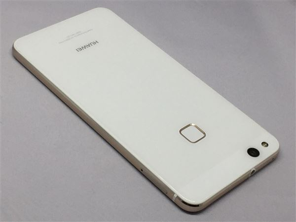 【中古】【安心保証】 UQモバイル P10lite パールホワイト
