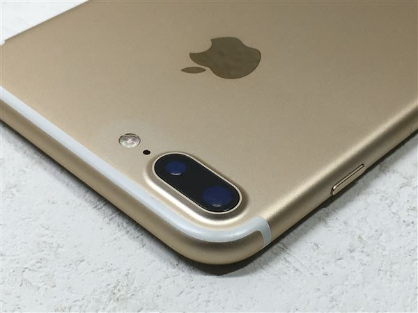 【中古】【安心保証】 au iPhone7Plus[32G] ゴールド SIMロック解除済