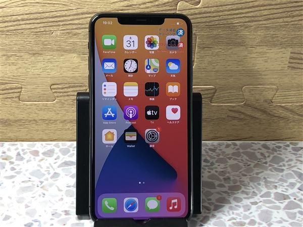 【中古】【安心保証】 SIMフリー iPhone11 Pro Max[64G] グレイ