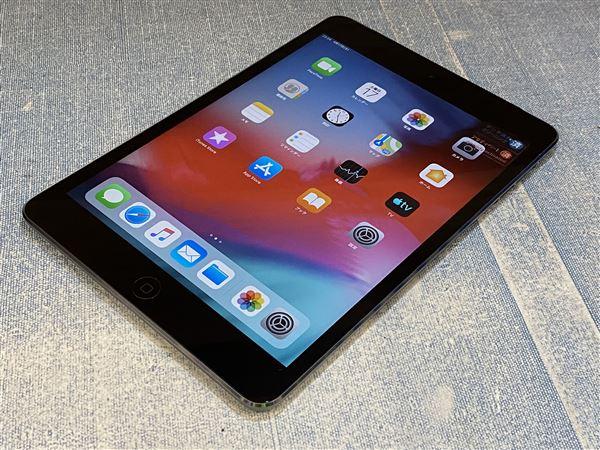 【中古】【安心保証】 docomo iPadmini-7.9_2[セルラー16G] グレイ