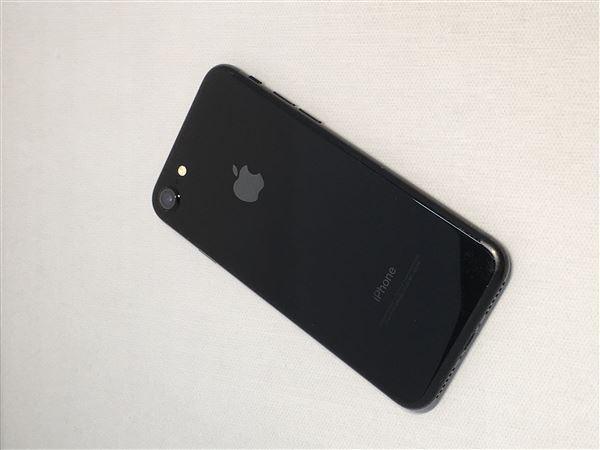 【中古】【安心保証】 SoftBank iPhone7[32G] ジェットブラック SIMロック解除済