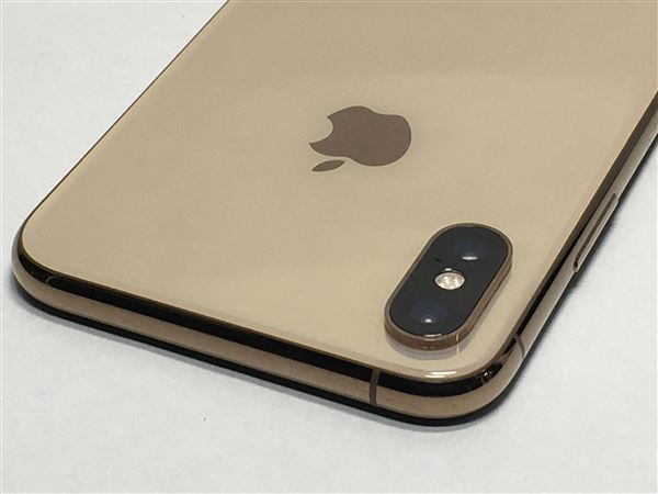 【中古】【安心保証】 SoftBank iPhoneXS[64G] ゴールド SIMロック解除済